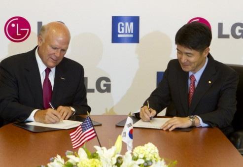 General Motors y LG unión
