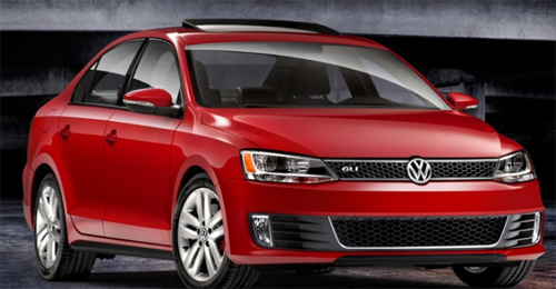 Volkswagen Jetta GLI 2012 rojo parrilla panal
