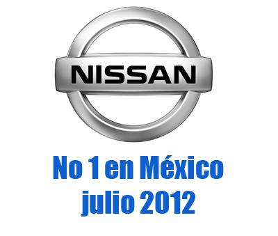 Top Ventas por Marca en Julio para México NIssan 1er lugar