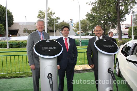 Estaciones de carga eléctrica GE en México para Chevrolet Volt