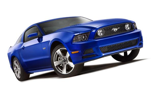 Ford Mustang 2013 en México color azul 5.0 litros