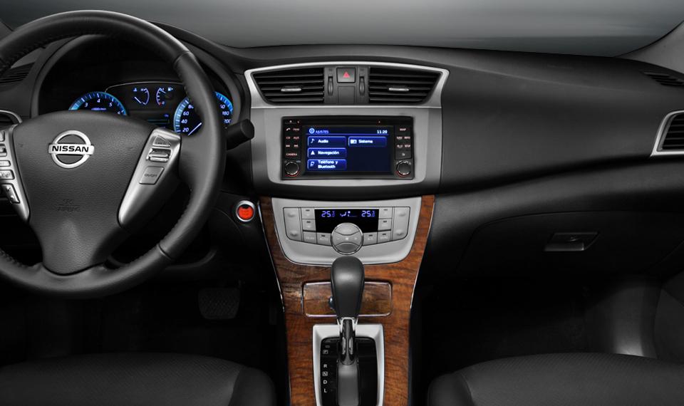 Nuevo Nissan Sentra 2013 para México interior, pantalla a ...