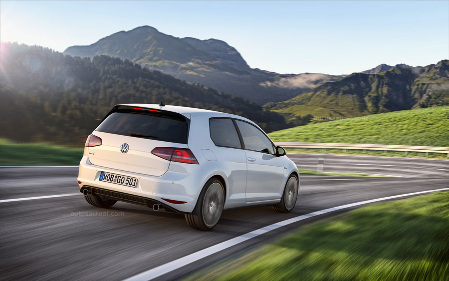 Volkswagen Nuevo Golf GTI 7 blanco parte trasera