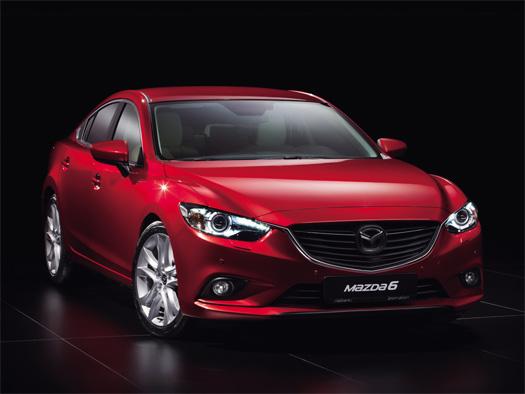 Mazda 6 2014 frente color rojo