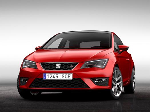 SEAT León SC 5 puertas frente color rojo