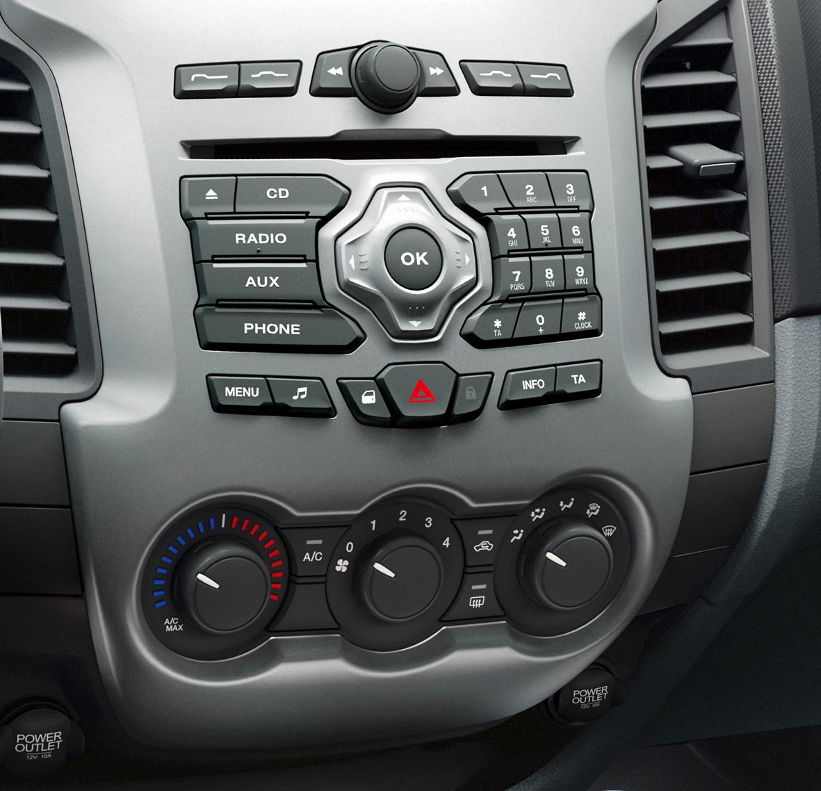 Ford Ranger 2013 para México interior estéreo
