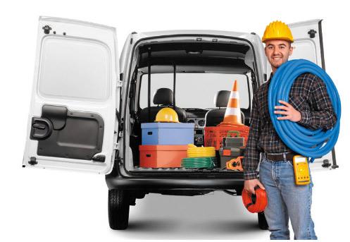 Renault Kangoo 2014 cabina trasera con herramienta