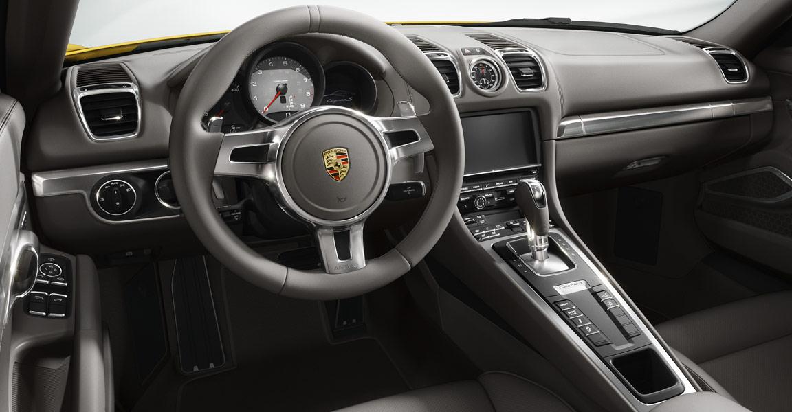 Porsche Cayman 2014 en México interiores volante en piel