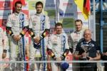 Volkswagen Sébastien Ogier Ingrassia Latvala Anttila en Rally Portugal Podium