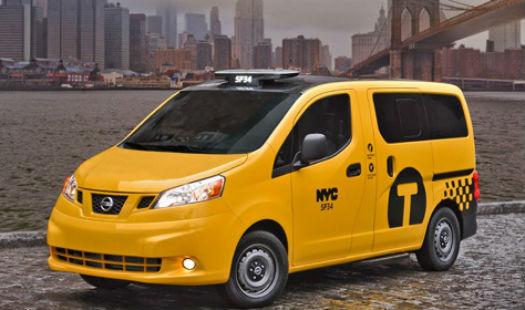 Taxi del mañana en Nueva York