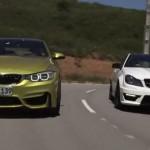 BMW M4 frente a frente con el Mercedes C63 AMG