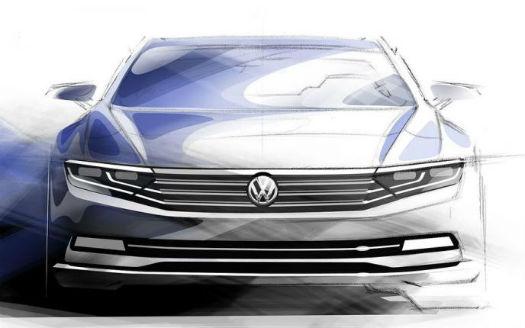 Volkswagen Passat 2015 sketches
