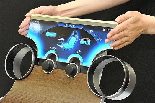 Sharp IGZO pantallas para autos