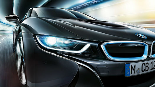 BMW i8 con luces láser