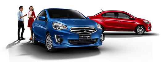 Mitsubishi Attrage 2014 colro azul y rojo