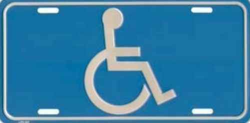 Placas autos para discapacitados