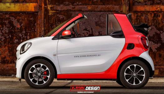 Smart Fortwo Cabrio Render