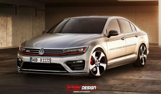 Volkswagen Passat 2015 GTI Render