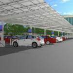 Ford construye estacionamiento con paneles solares