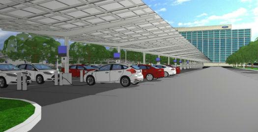 Estacionamiento solar de Ford