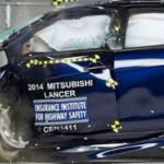 Mitsubishi Lancer el mejor en pruebas de seguridad de IIHS