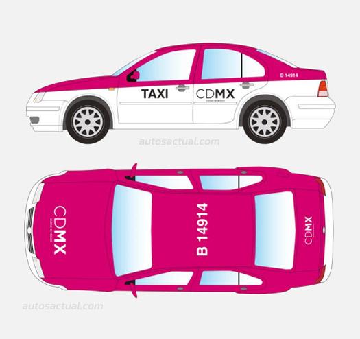 Taxi rosa Ciudad de México
