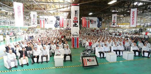 Nissan motor 10 millones