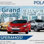 Hyundai Polanco gran inauguración el 10, 11 y 12 de octubre