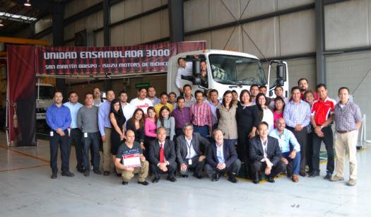 Isuzu unidad 3000 planta en México