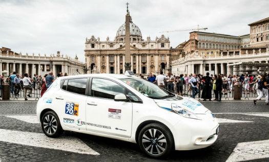 Nissan Leaf Taxi en Roma