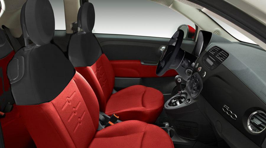 Fiat 500 Diavolo en México interiores Asientos