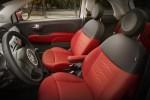 Fiat 500 Ribelle asientos rojo con negro