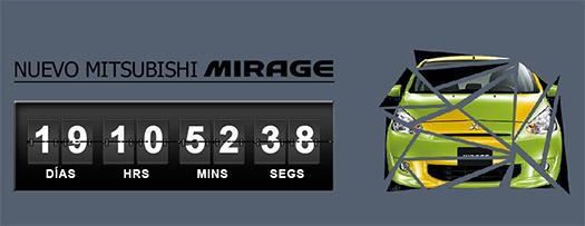 Mitsubishi Mirage 2015 México cuenta regresiva sitio Web