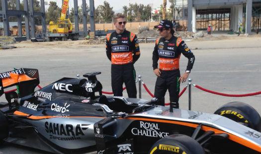 Checo Pérez y nuevo auto de Force India
