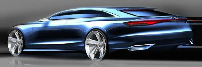 Audi Prologue Avant boceto, trasero