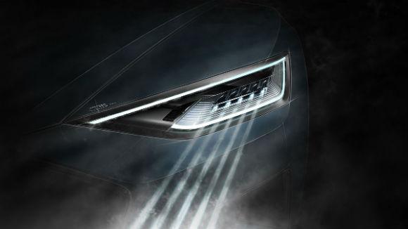 Audi R8 imagen teaser, faros laser 2015
