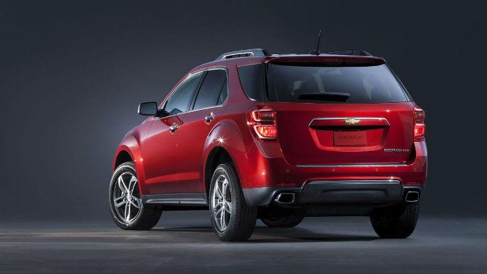 Chevrolet Equinox 2016 rediseñada trasero