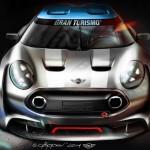 Mini Clubman Vision Gran Turismo listo para la PlayStation