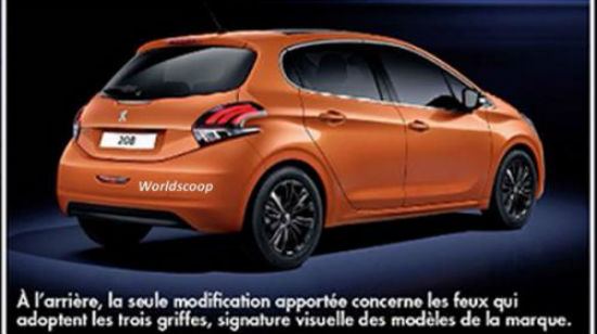 Peugeot 208 restyling trasero