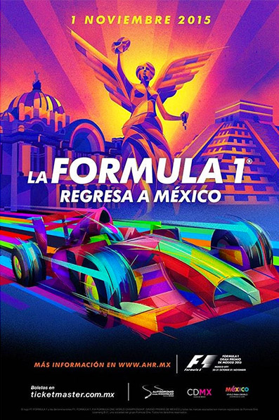 Póster oficial Formula 1 México 2015