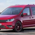 Volkswagen Nuevo Caddy 2016 color rojo