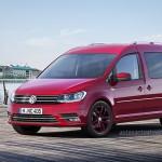 Volkswagen Nuevo Caddy 2016 color rojo de perfil