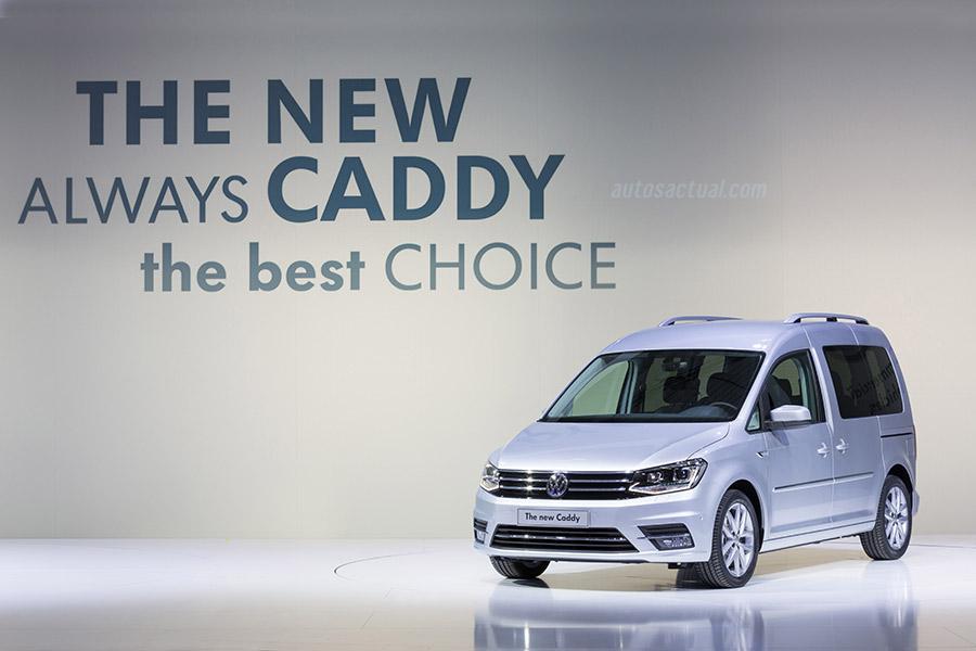 Volkswagen Nuevo Caddy 2016 color plata en presentación oficial