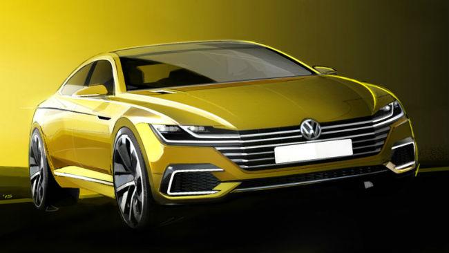 Volkswagen CC 2016, bocetos prototipo previo Ginebra 2015