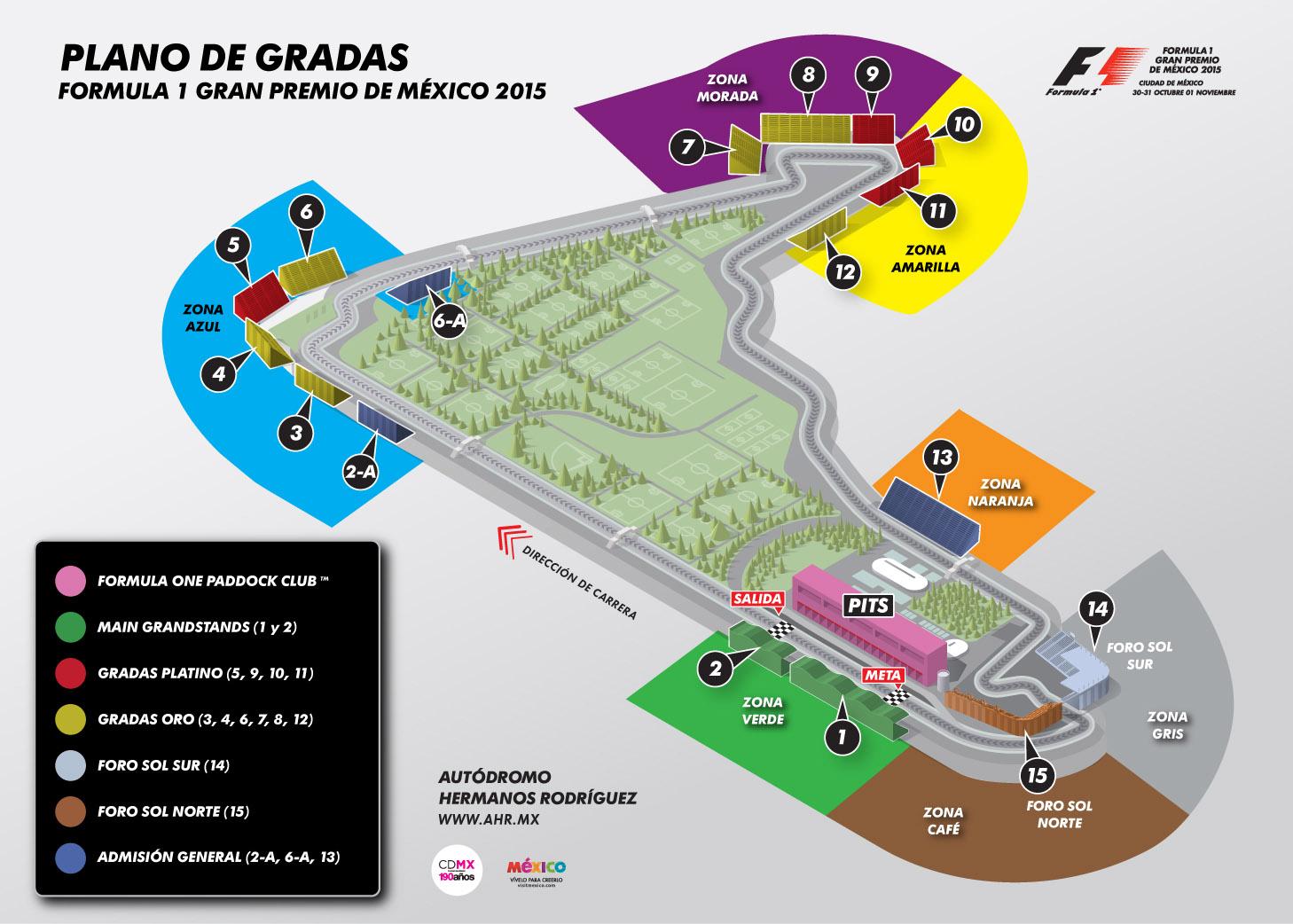 Inicia venta general al p blico del f rmula 1 en m xico for Puerta 2 autodromo hermanos rodriguez