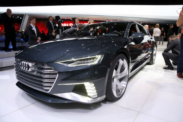 Audi Prologue concept en vivo desde Ginebra, vista frente-lateral