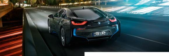 BMW i8 vista trasera