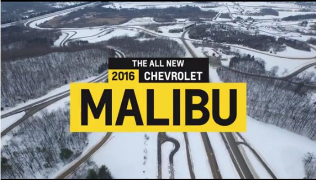 Chevrolet Malibu 2016 video teaser