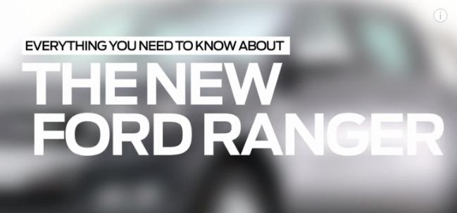 Ford Ranger 2016 video oficial novedades