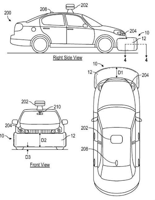 Google bolsas de aire externas para su vehículo autónomo